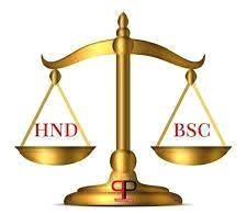 You can equate your HND with Bsc following these approaches