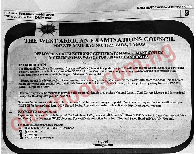 WAEC Frequently Asked Questions and their Accurate Answers [UPDATED]